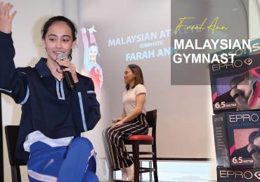 FARAH ANN, Malaysian artistic gymnast.