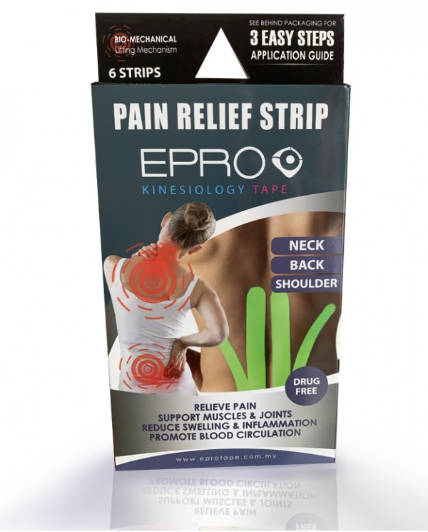 EPRO Pain Relief Strip - Black & Neon Green